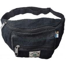 Pure Hemp Black Bum Bag