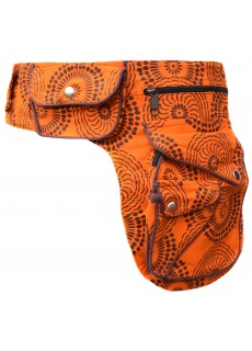 Heavy Cotton Waist Belt Bag Orange