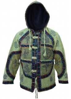 Patchwork Stitched Winter Stamped Jacket