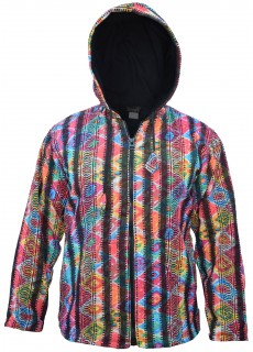 Gheri Printed Colorful Festival Jacket