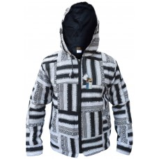 Black/White Gheri Patchwork Cotton Jacket