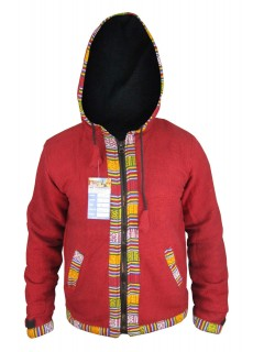 Maroon Ofal Full Zip Jacket