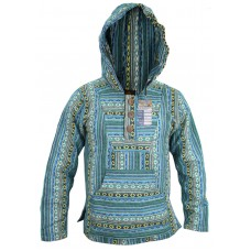 Petrol Blue Mix Baja Hoody