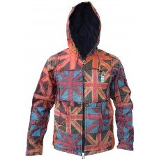 Union Jack Patchwork Pixie Hood Jacket