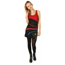Racer Back Embroidery Dress