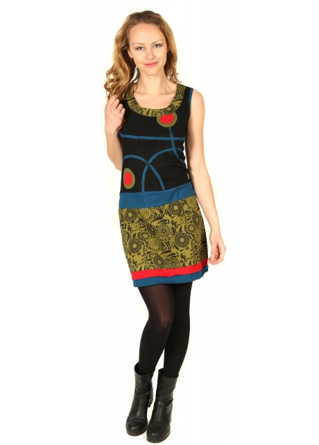 Embroidery Back Spiral Dress