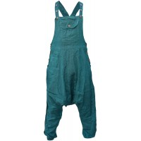 Cotton Women's Overalls Lightweight Dungarees Petrol