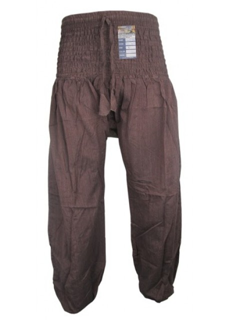 Plain Brown Genie Pants