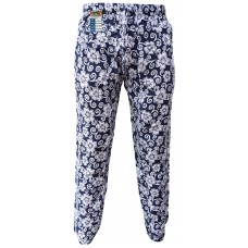 Floral Black Flower Print Genie Pants