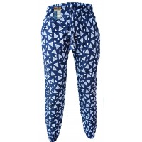 Floral Blue Triangle Print Genie Pants