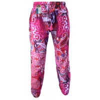Floral Red Psychedelic Genie Pants