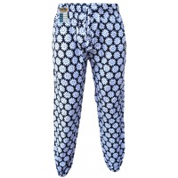 Floral White Flower Print Genie Pants