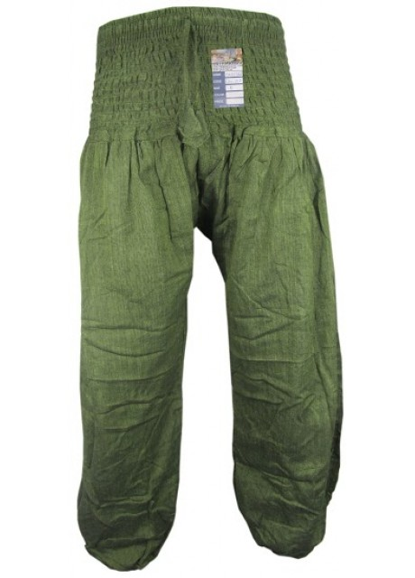 Plain Green Genie Pants