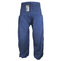 Plain Navy Blue Genie Pants