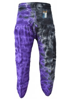 Tiedye Purple Black Chudidar