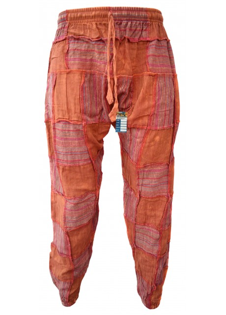 Orange Patch Stonewashed Genie Pants