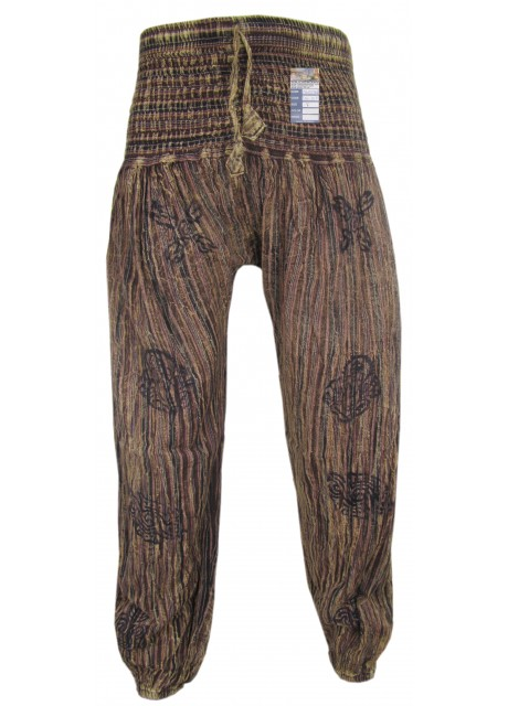 Stonewashed Brown Genie Pants