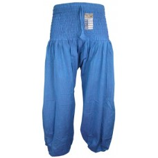 Plain Torqoise Blue Genie Pants