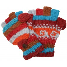 Woolen Fleecelined Fingerless Gloves B