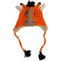 Woollen Handknitted Fleece Lined Trapper Animal Hat Donkey