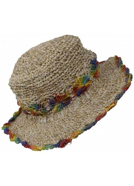 Hemp Cotton Panama Straw Hat M