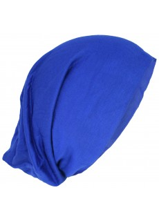 Stretchable Beanie Cotton Hat Royal Blue