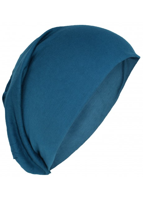 Stretchable Beanie Cotton Hat Petrol