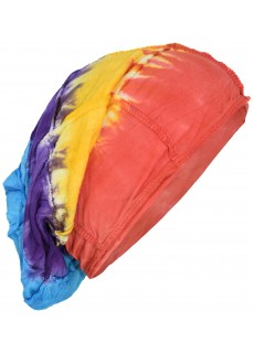 Stretchable Beanie Cotton Hat Rainbow Tie Dye