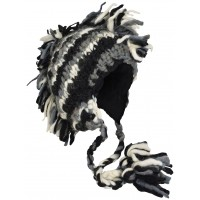 Fringes Mohawk Hand Knitted Wolly Hat C