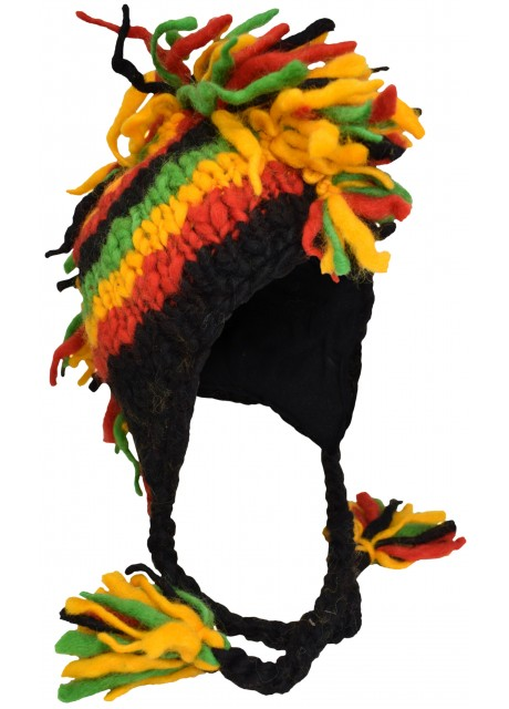 Fringes Mohawk Hand Knitted Wolly Hat D
