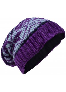Snowflake Fleece Lined Beanie Woolly Hat A