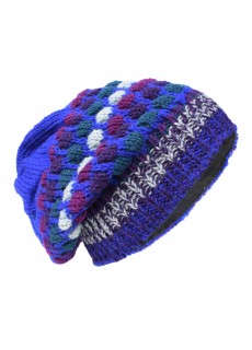 Bubbleknit Deep Blue Beanie Woolly Hat