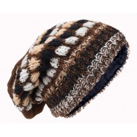 Bubbleknit Chocolate Brown Beanie Woolly Hat
