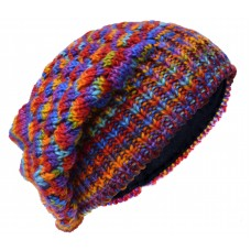 Bubbleknit Rainbow Tiedye Beanie Woolly Hat