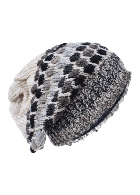 Bubbleknit Natural Grey Beanie Woolly Hat