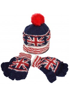 Union Jack Blue Hat/Gloves Set