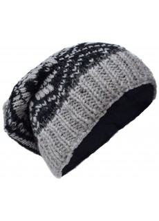 Snowflake Fleece Lined Beanie Woolly Hat I