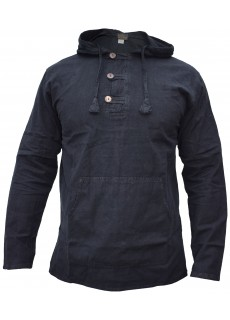 Enzyme Washed Classic Hoody Black
