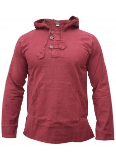 Enzyme Washed Classic Hoody Maroon