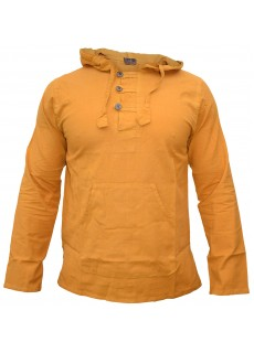 Enzyme Washed Classic Hoody Mustard Yellow