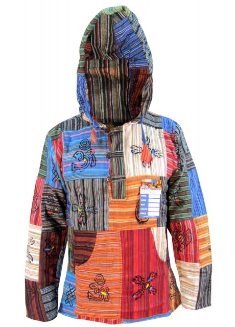 Patchwork Non Stonwashed Hoody