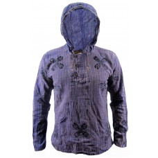 Purple Stonewashed Grandad Hoody