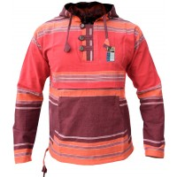 Heavy Cotton Red Grandad Festival Hoody