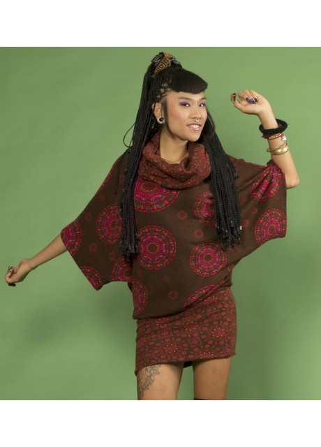 Cowl Neck Hippy Winter Dress