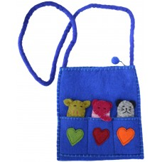 Felt Puppet Bag Purple/Blue