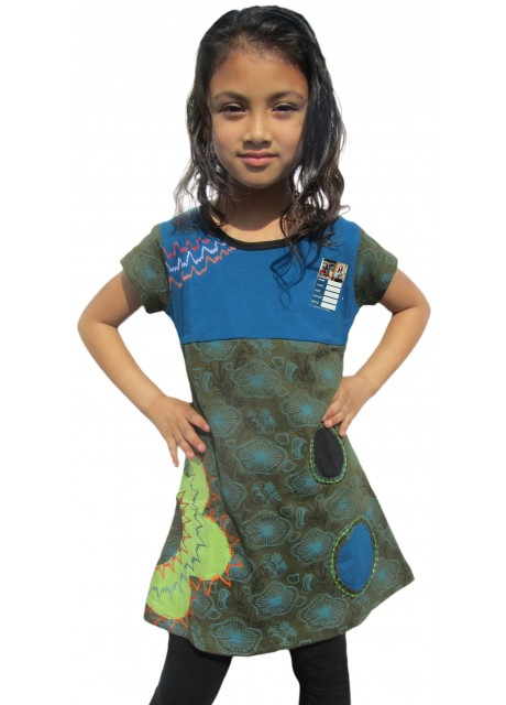 Kids Floral Blue Dress