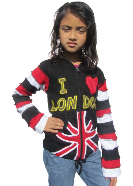Kids I Love London Ribs Hoody