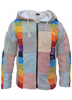 Patchwork Razorcut Pixie Rainbow Boho Jacket