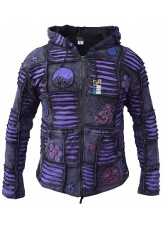 OM Purple Mens Ribs Hoody