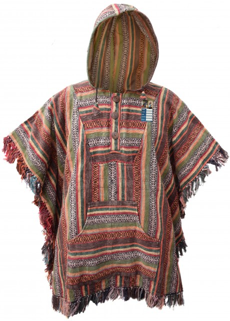Brown Mix Poncho